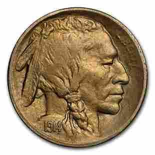 1914-S Buffalo Nickel AU