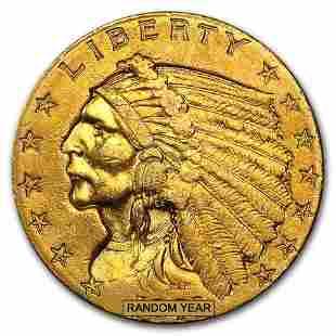 $2.50 Indian Gold Quarter Eagle (Cleaned)