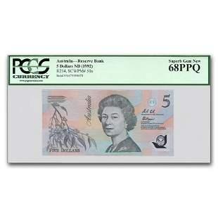 1992 Australia 5 Dollars CU-68 PPQ PCGS