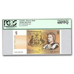 1979 Australia 1 Dollar CU-68 PPQ PCGS