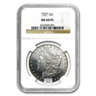 1878-1904 Morgan Dollars MS-64 PL NGC