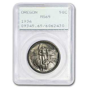 1936 Oregon Trail Memorial Half Dollar MS-65 PCGS