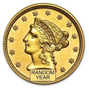 $2.50 Liberty Gold Quarter Eagle AU (Random Year)