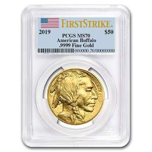 2019 1 oz Gold Buffalo MS-70 PCGS (FirstStrike®)