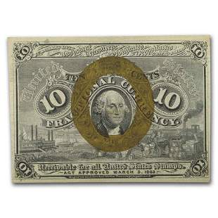 2nd Issue Fractional Currency 10 Cents CU (FR#1245)