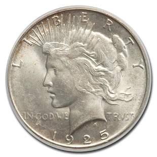 1925-S Peace Dollar MS-64 PCGS