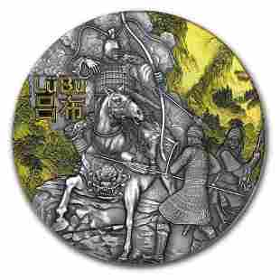 2019 Niue 3 oz Antique Silver Warriors of Ancient