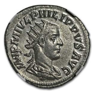 Roman Empire AR Dbl. Denarius Emp. Phillip II (247-49