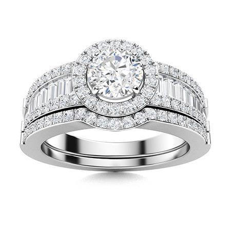 Natural 1.38 CTW Topaz & Diamond Engagement Ring 14K