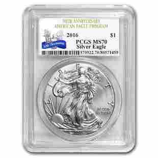 2016 Silver American Eagle MS-70 PCGS