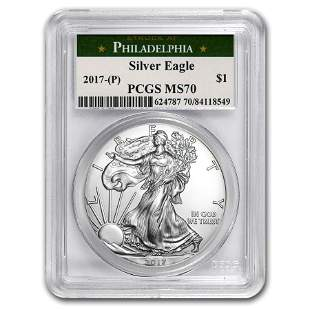 2017 (P) Silver American Eagle MS-70 PCGS (Philadelphia