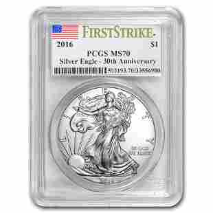 2016 Silver American Eagle MS-70 PCGS (FirstStrike®)