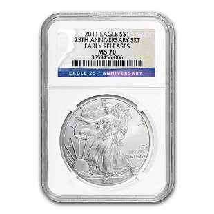 2011 Silver American Eagle MS-70 NGC (Early Releases)