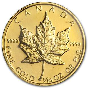 1982 Canada 1/10 oz Gold Maple Leaf BU