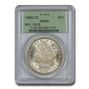 1880-CC Morgan Dollar MS-65 PCGS (Rev of 1878)
