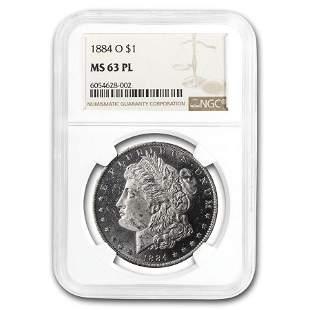 1884-O Morgan Dollar MS-63 PL Proof Like NGC