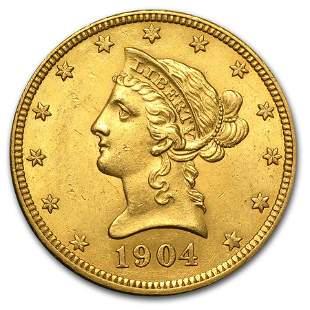 1904-O $10 Liberty Gold Eagle AU