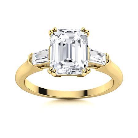 Natural 3.35 CTW Topaz & Diamond Engagement Ring 14K