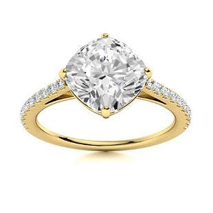 Natural 1.57 CTW Topaz & Diamond Engagement Ring 14K