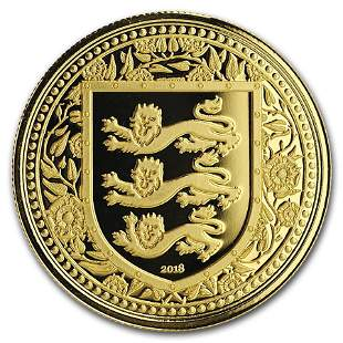 2018 Gibraltar 1 oz Gold Royal Arms of England BU