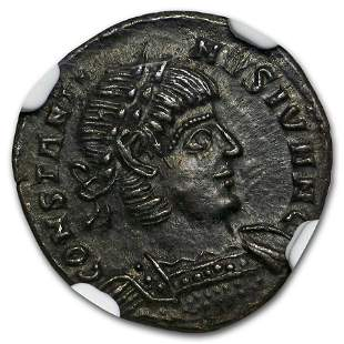 Roman AE3/4 Emperor Constantine II (337-340 AD) Ch AU