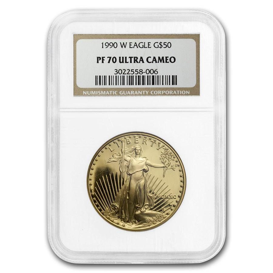 1990-W 1 oz Proof Gold American Eagle PF-70 NGC