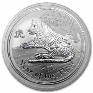 2010 Australia 10 oz Silver Year of the Tiger BU