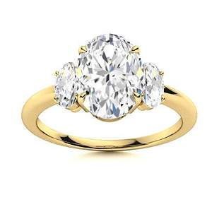 Natural 4.56 CTW Topaz & Diamond Engagement Ring 14K
