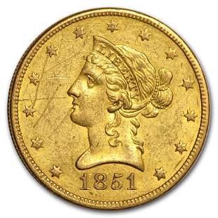 1851-O $10 Liberty Gold Eagle XF Details