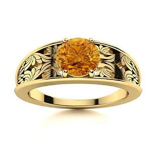 Natural 1.41 CTW Citrine Solitaire Ring 14K Yellow Gold