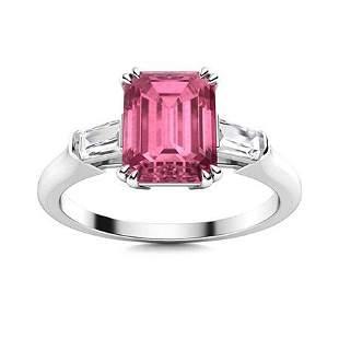 Natural 1.70 CTW Tourmaline & Diamond Engagement Ring