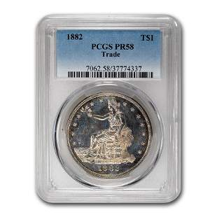 1882 Trade Dollar PR-58 PCGS