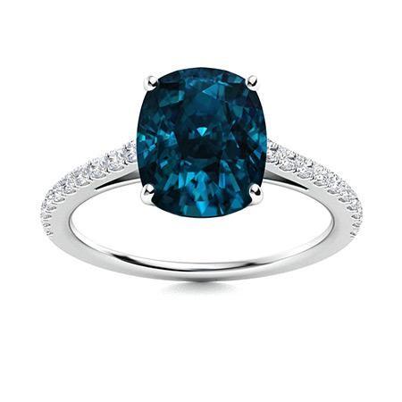 Natural 3.48 CTW Topaz & Diamond Engagement Ring 14K