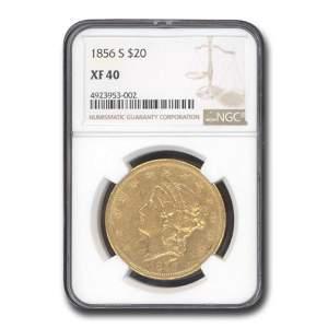 1856-S $20 Liberty Gold Double Eagle XF-40 NGC