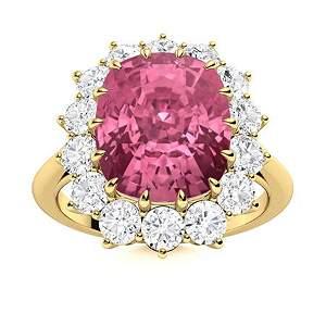 Natural 4.57 CTW Tourmaline & Diamond Engagement Ring