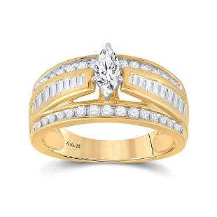 Marquise Diamond Solitaire Bridal Wedding Engagement