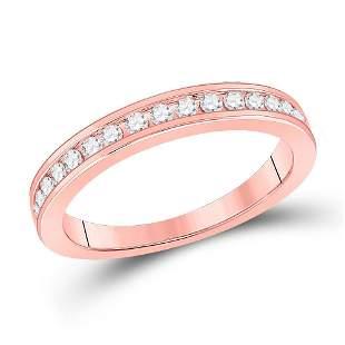 Diamond Wedding Single Row Band 1/3 Cttw 14kt Rose Gold