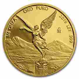 2019 Mexico 1/4 oz Proof Gold Libertad