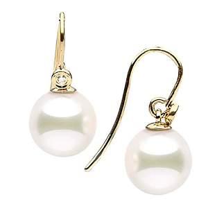 Japanese Akoya Pearl and Diamond Shepherd Dangle