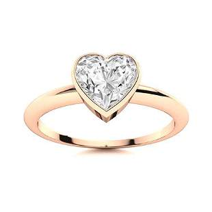 Natural 0.55 CTW Topaz Solitaire Ring 18K Rose Gold