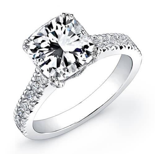 Natural 2.93 CTW Radiant Cut Diamond Engagement Ring