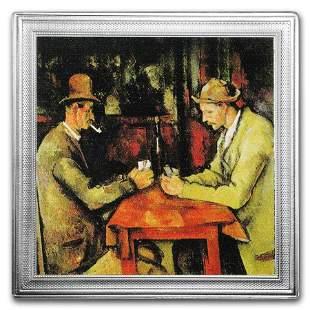 2016 Niue 2 oz Silver Paul Cézanne Painting (The Card
