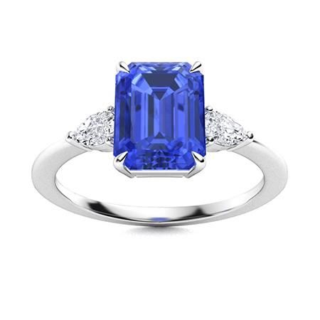 Natural 4.27 CTW Ceylon Sapphire & Diamond Engagement