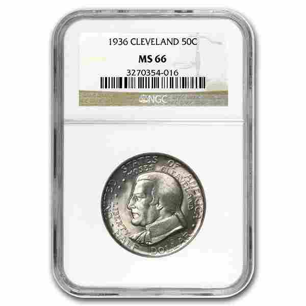 1936 Cleveland/Great Lakes Half Dollar MS-66 NGC