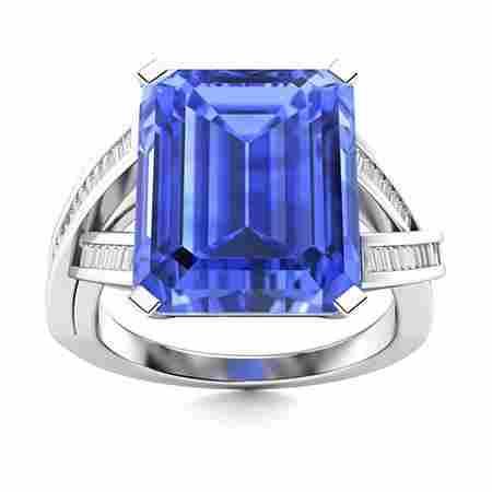 Natural 5.97 CTW Ceylon Sapphire & Diamond Engagement