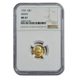 1922 Gold $1.00 Grant MS-67 NGC