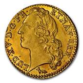 1753-W France Gold Louis D'or MS-64 NGC