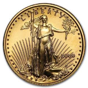 2000 1/10 oz Gold American Eagle BU