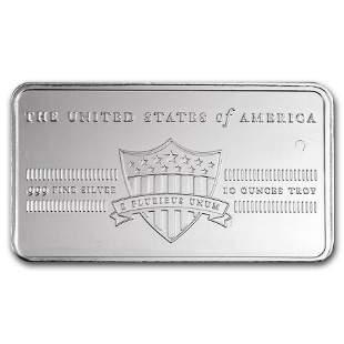 10 oz Silver Bar - E Pluribus Unum/Shield