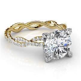 Natural 3.57 CTW Round Cut Diamond Infinity Engagement